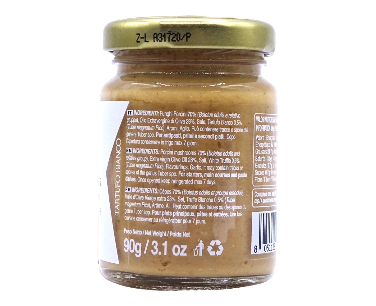 Crema di funghi porcini e tartufo bianco 90gr