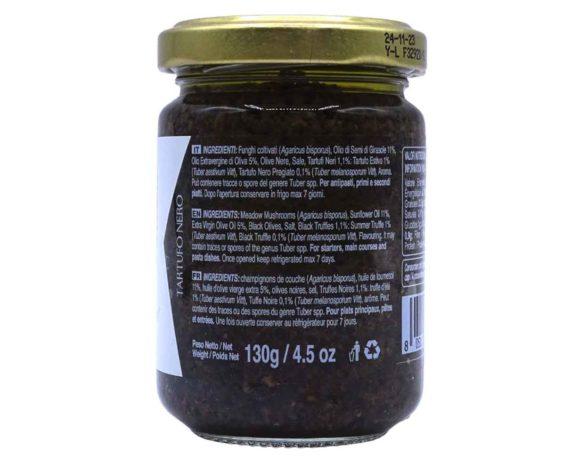 Salsa tartufata nera Artigiani del Tartufo 130gr-retro