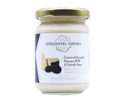Crema di pecorino romano dop e tartufo nero 130gr