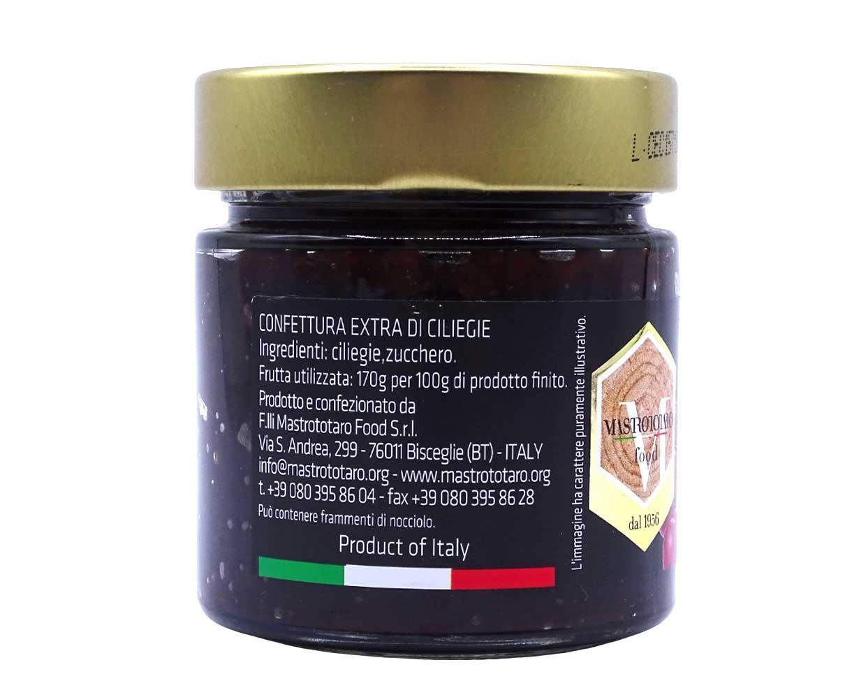 Confettura extra di ciliegie di Bisceglie Mastrototaro 260gr
