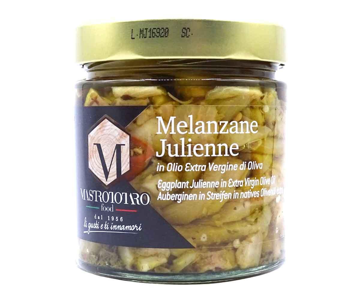 Melanzane julienne sott'olio Mastrototaro 370gr