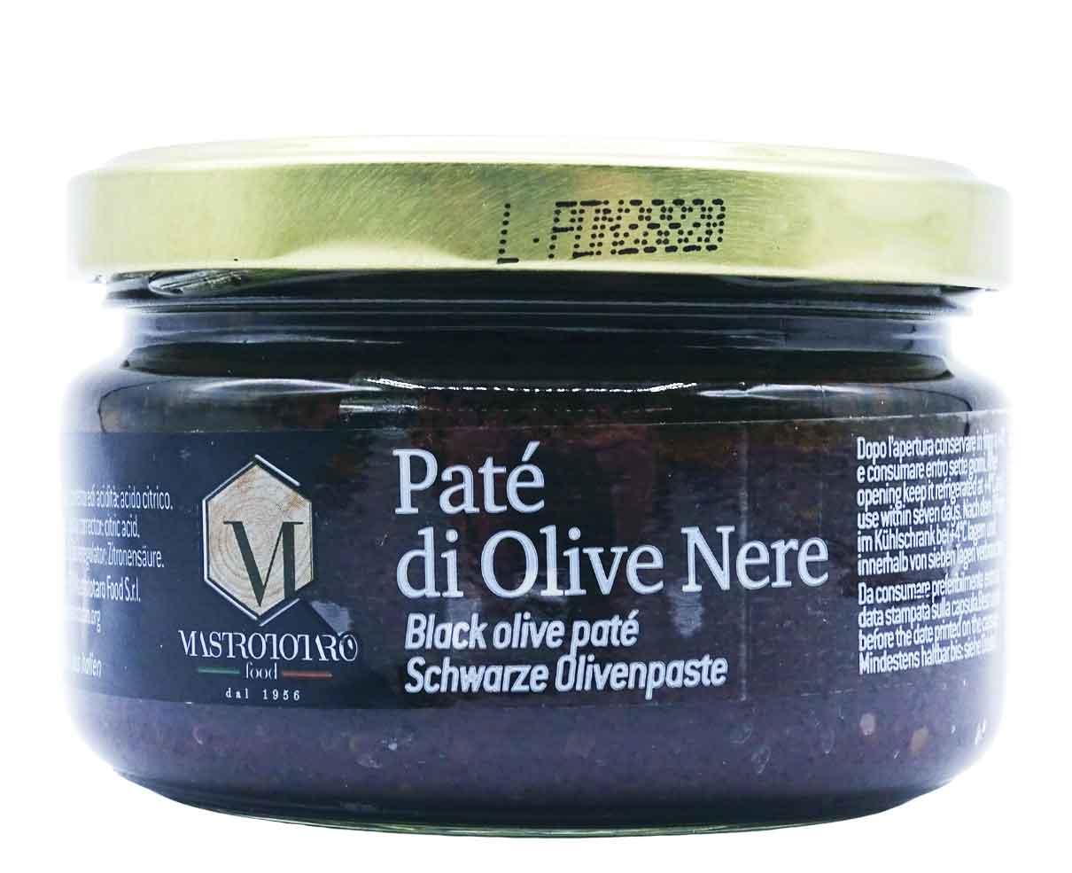 Pate' di olive nere Mastrototaro 180gr