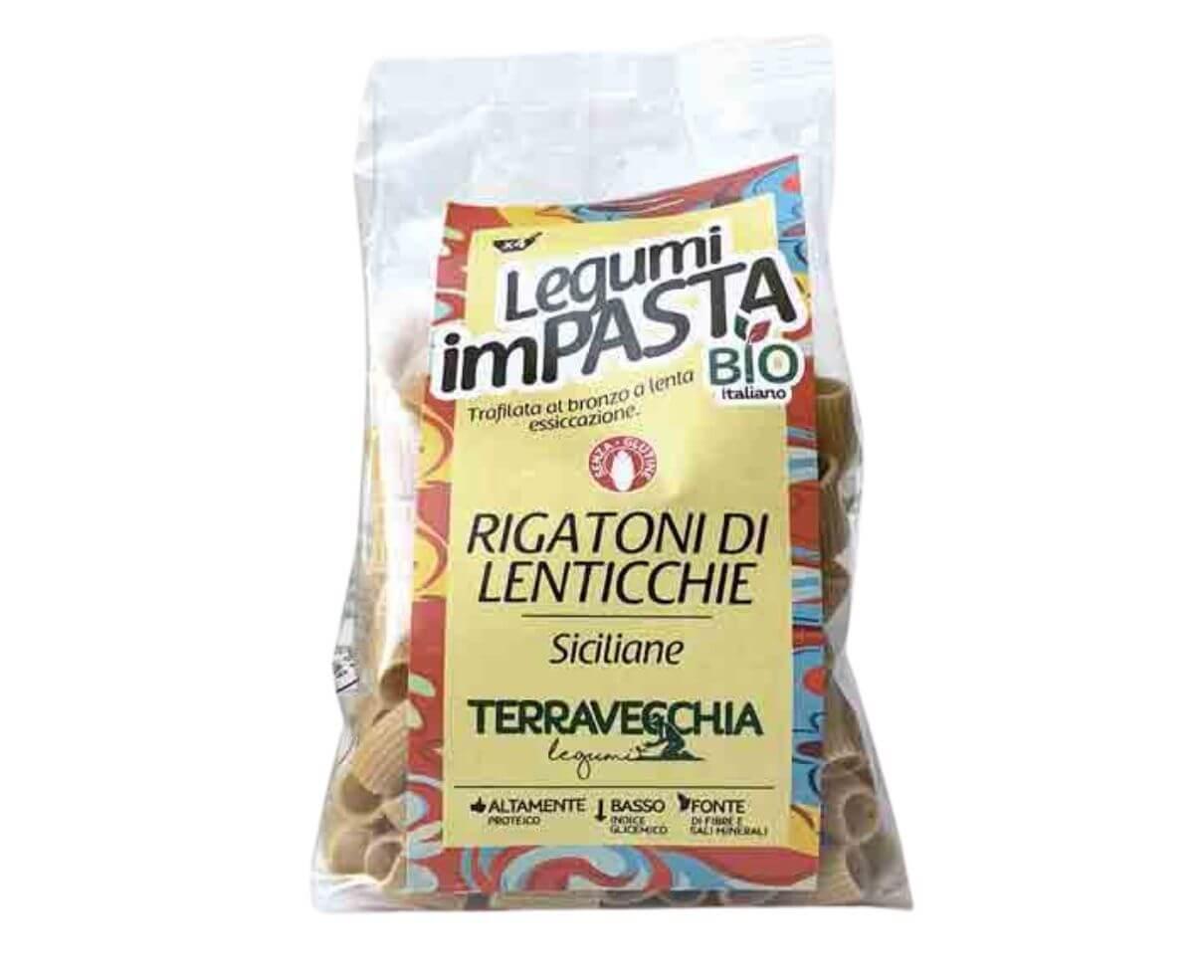 Rigatoni di lenticchie bio Terravecchia 250gr