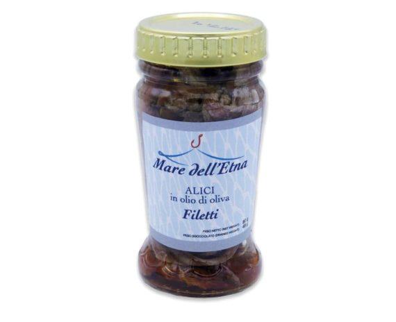 Filetti di alici alalunga in olio d'oliva 90gr