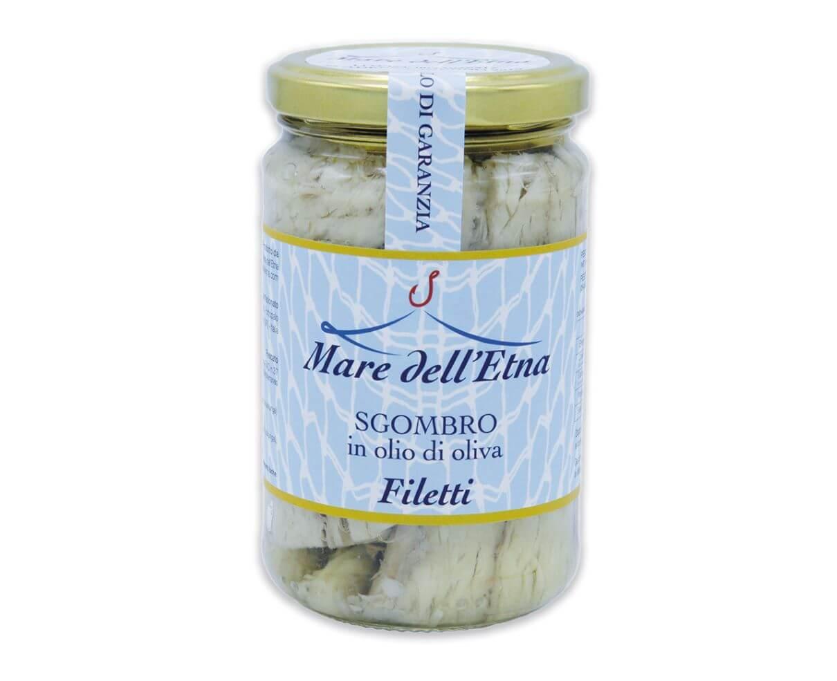 Filetti di sgombro in olio d'oliva 300gr