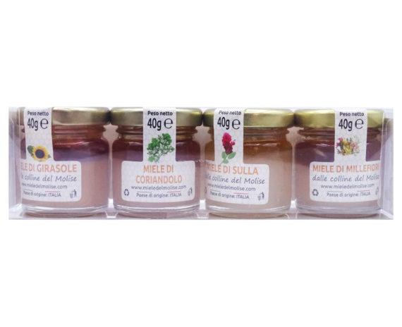 Kit 4 vasetti degustazione miele Nazario Fania 40gr