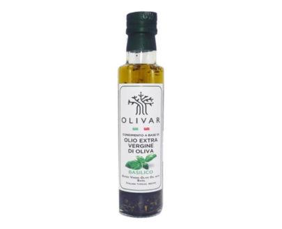 Condimento a base di olio evo con basilico Olivar 250ml