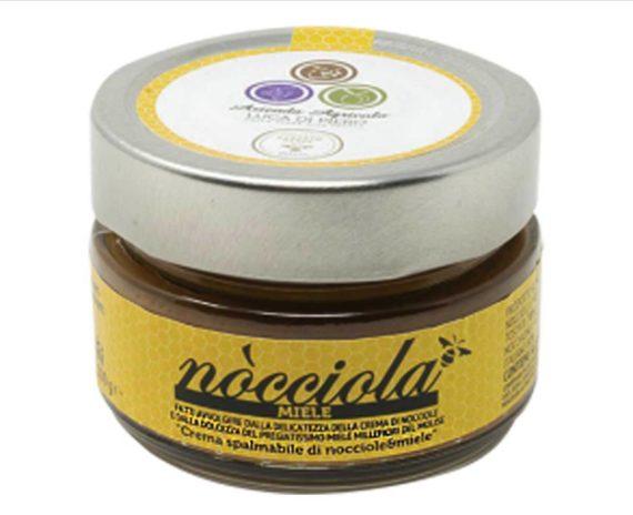 Crema spalmabile di nocciole e miele millefiori 100 gr