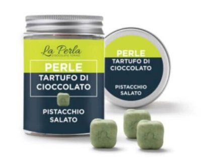 Perle di tartufo di cioccolato e pistacchio salato La Perla 50gr