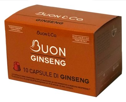 10 capsule caffè al ginseng compatibili Nespresso