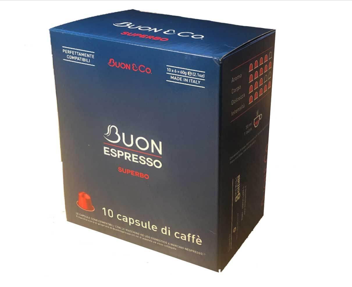 10 capsule caffè gusto superbo Compatibili Nespresso