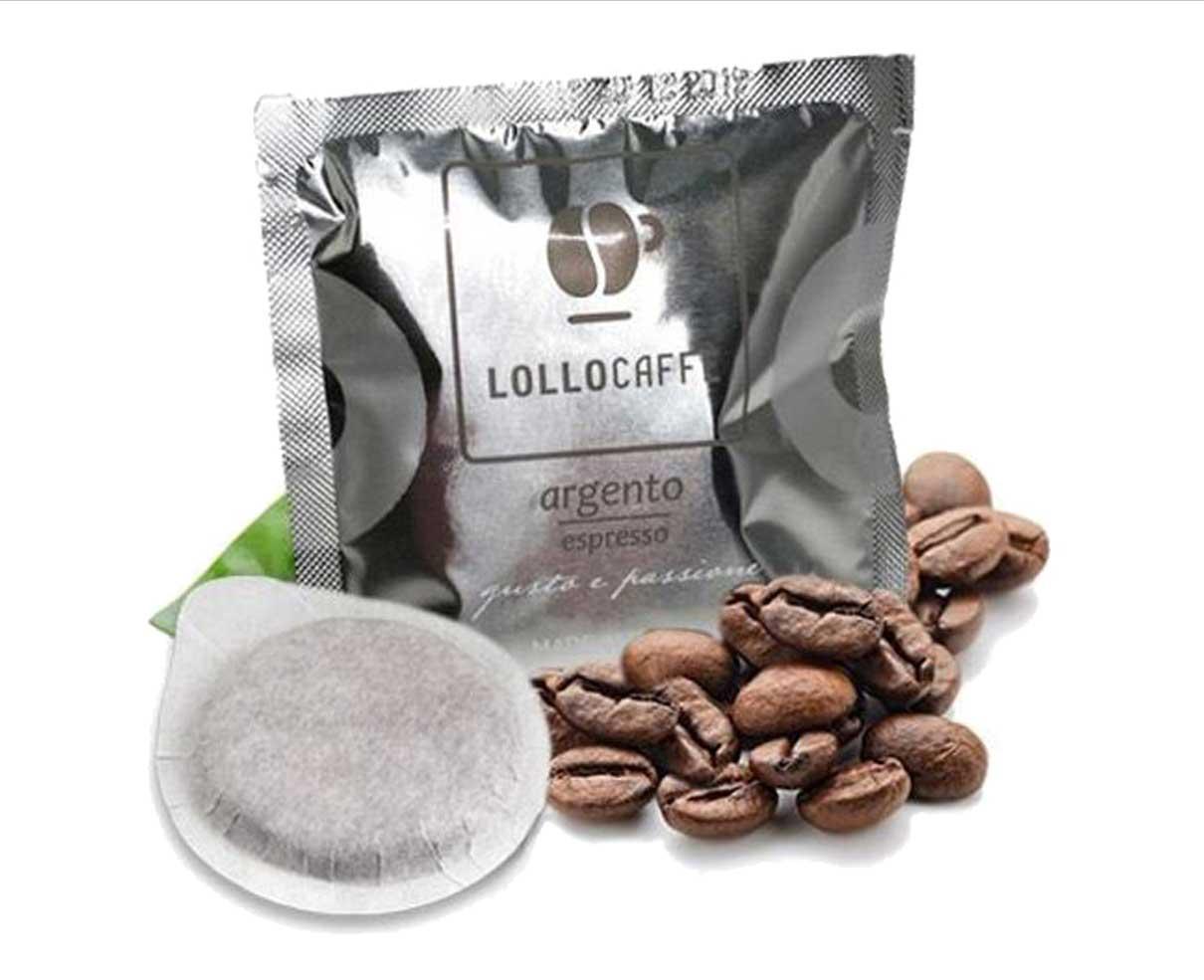 50 cialde ESE in carta caffè miscela argento Lollo caffè