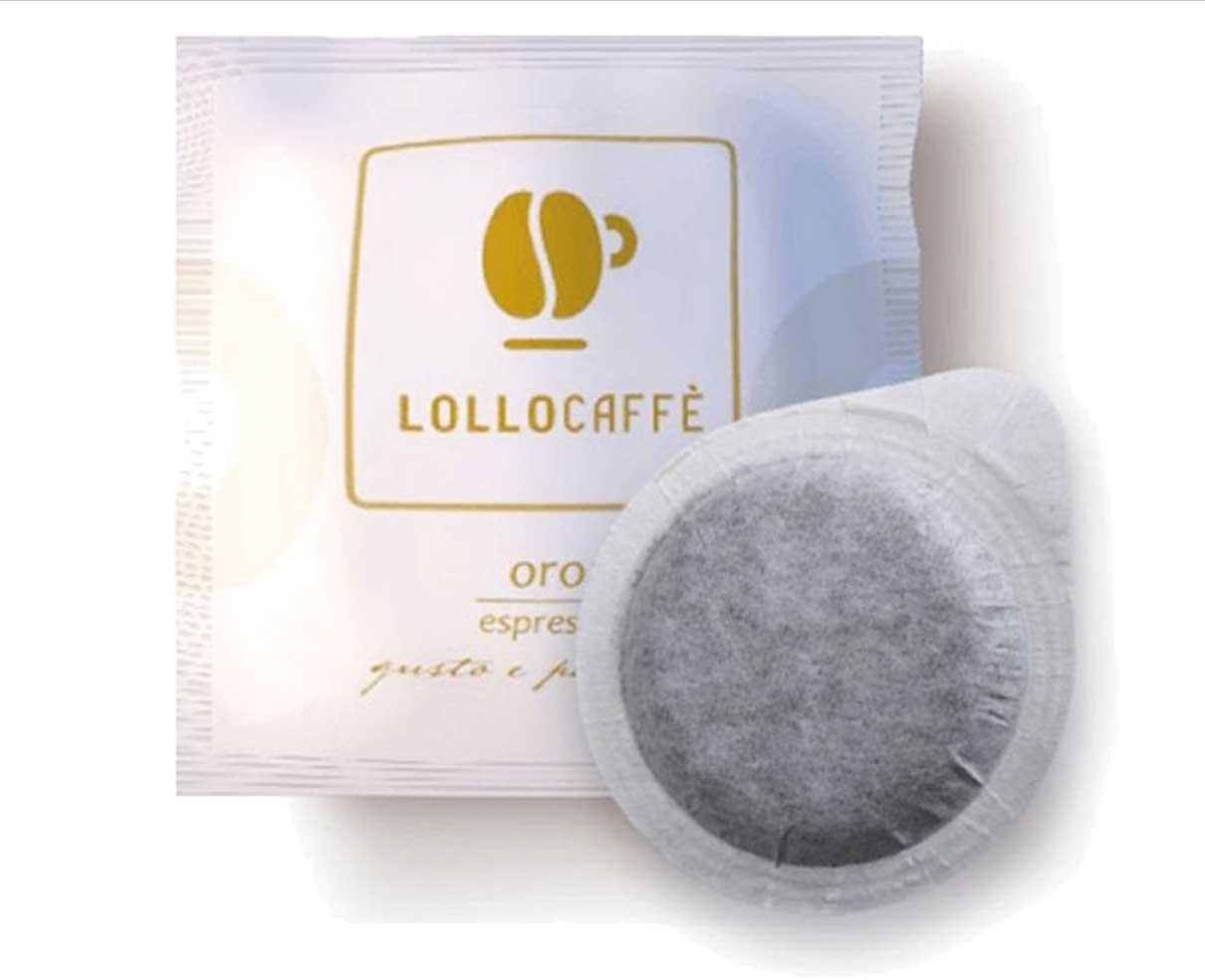 50 cialde ESE in carta caffè miscela oro Lollo caffè