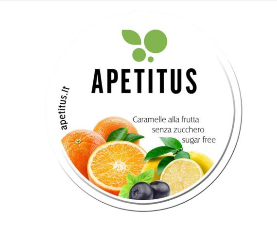 Caramelle alla frutta senza zucchero Apetitus 30gr