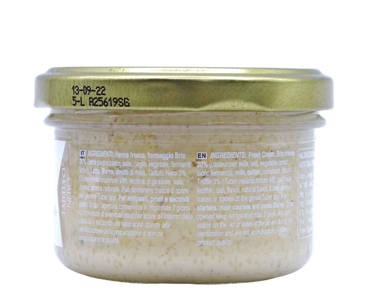 Crema di formaggio brie con tartufo nero Artigiani del Tartufo 90gr