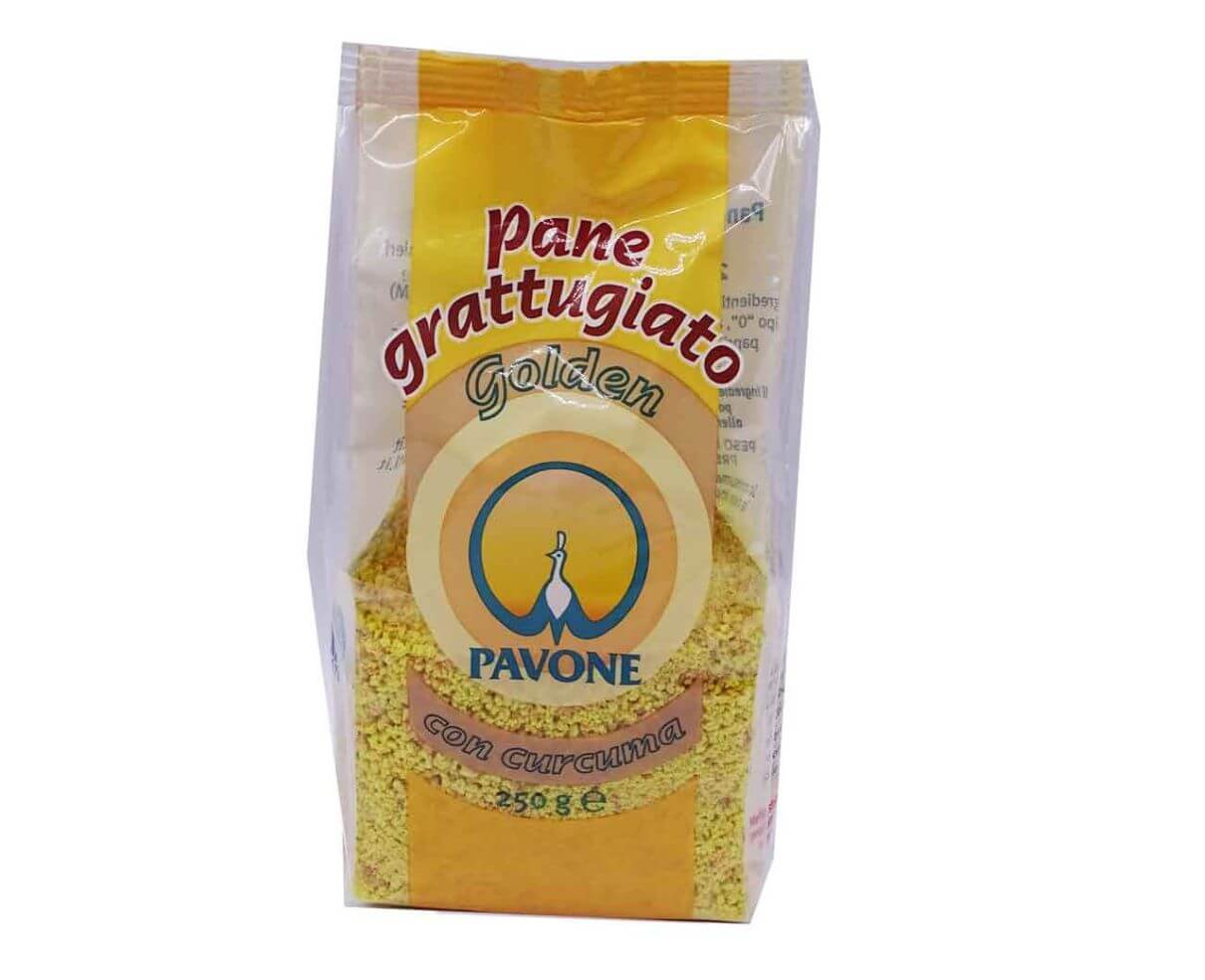 Pane grattugiato con curcuma Pavone 250gr