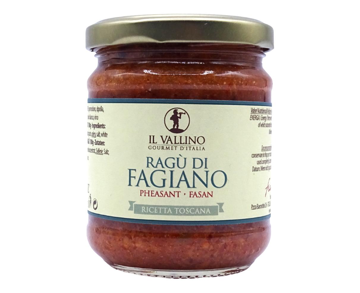 Ragù di fagiano Il Vallino 180gr