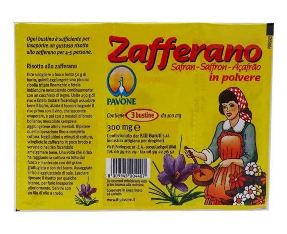 Zafferano in polvere Pavone 3gr