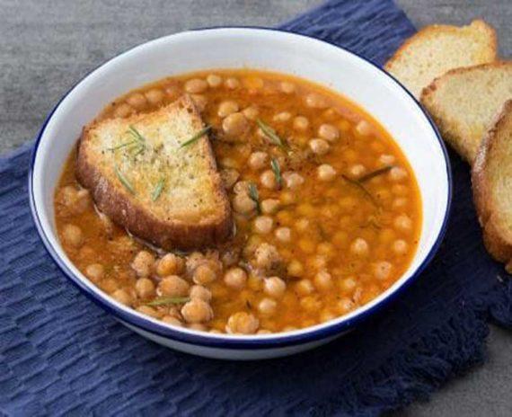 zuppa di ceci profumata