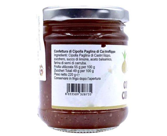 Confettura di cipolla paglina di Castrofilippo 220gr