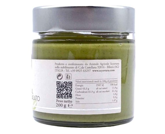 Crema al pistacchio salato Scyavuru 200gr