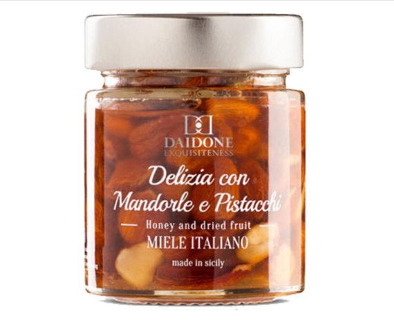 Delizia con mandorle e pistacchi Daidone 140gr