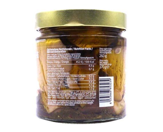 Funghi cardoncelli in olio evo Mastrototaro 370gr
