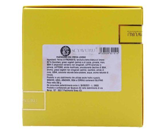 Pasticcino ripieno con crema al limone 200gr