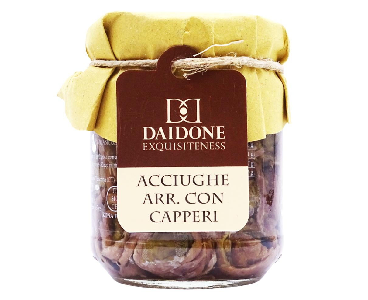 Acciughe con capperi Daidone Exquisiteness 200gr