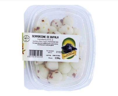 Scamorzine di bufala al peperoncino 230 gr