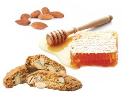 Biscotti cantucci con mandorle, latte e miele Di Iorio 250gr