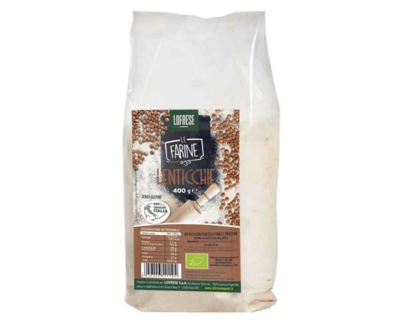 Farina di lenticchie biologica Lofrese 400gr
