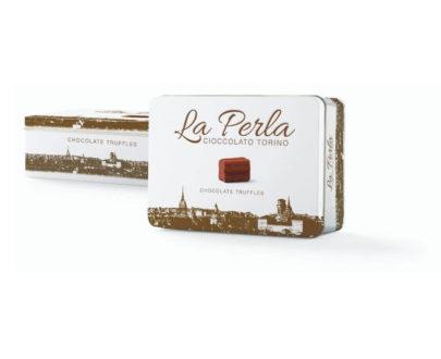 Latta bianca di tartufi di cioccolato La perla 200gr