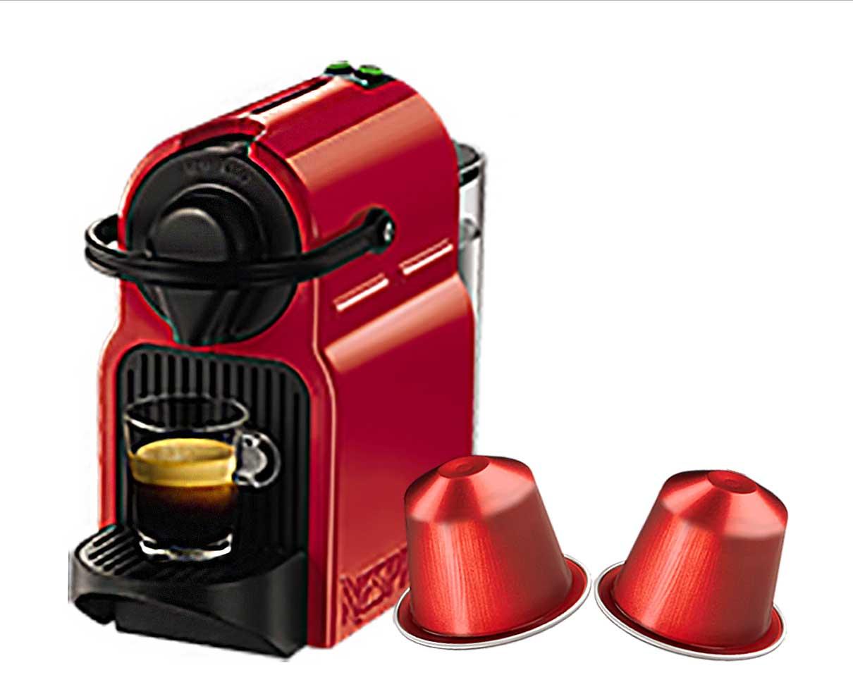 Macchina del caffè Nespresso originale con 100 capsule a scelta