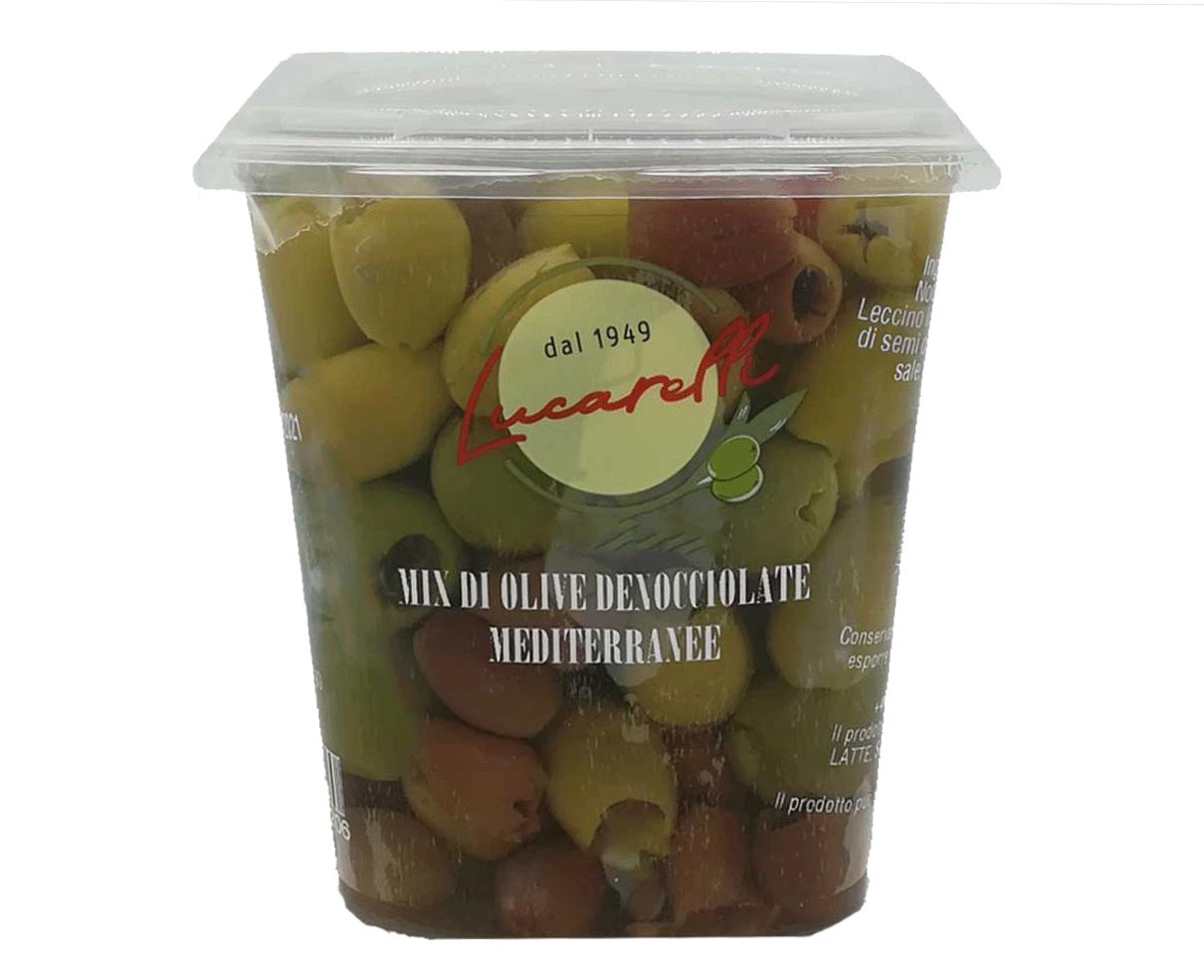 Mix olive denocciolate mediterranee Lucarelli 420gr