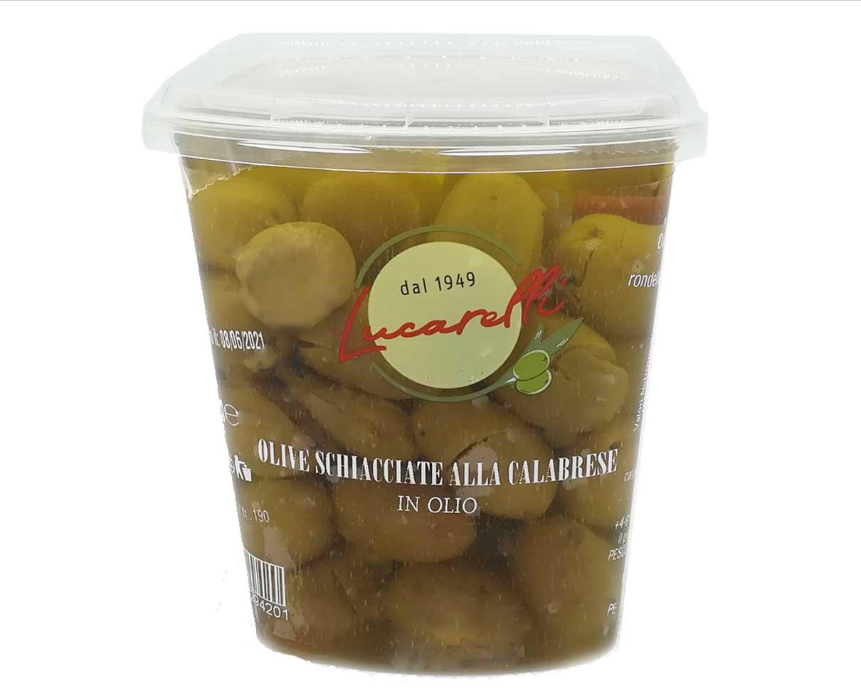 Olive schiacciate alla calabrese Lucarelli 420gr