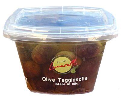 Olive taggiasche intere in olio Lucarelli 220gr