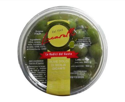 Olive verdi dolci giganti Sicilia Lucarelli 500gr