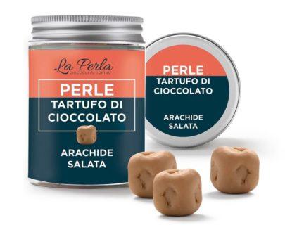 Perle di tartufo di cioccolato all'arachide salata La perla 50gr