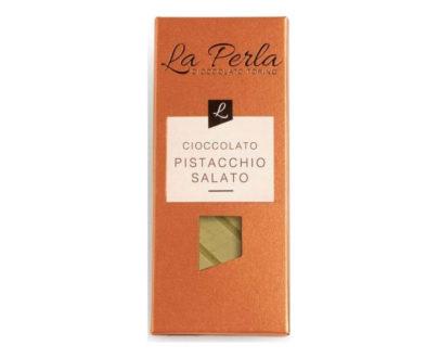 Tavoletta di cioccolato bianco con pistacchio salato 60gr