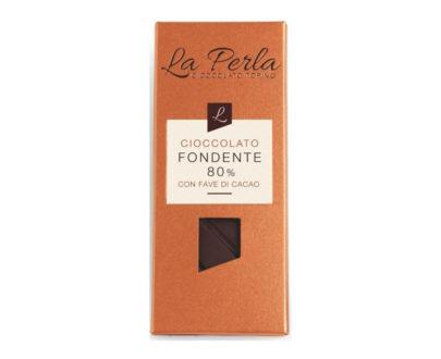Tavoletta di cioccolato fondente 80% La perla 60gr