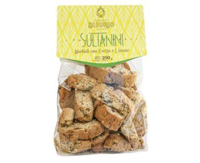 Biscotti sultanini con uvetta e limone Di Iorio 250gr
