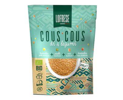 Cous cous bio di 4 legumi Lofrese 250gr