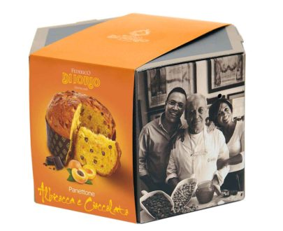 Panettone con albicocca e cioccolato Di Iorio 1000gr