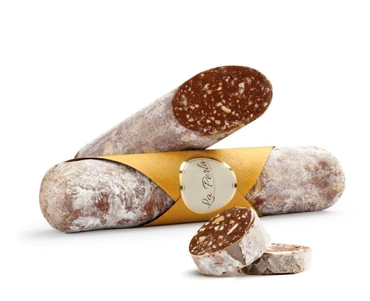 Salame di tartufo al cioccolato e nocciole pralinate La perla 120gr