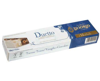 Torrone Duetto tenero vaniglia e cioccolato Di Iorio 130gr