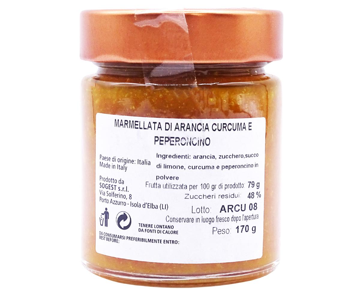Marmellata di arancia e curcuma Armando in Porto Azzurro 170gr