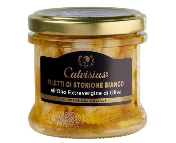 Filetti di storione bianco sott'olio Calvisius 130gr