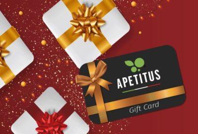 Gift Card Apetitus la soluzione veloce e ideale per i regali di Natale.