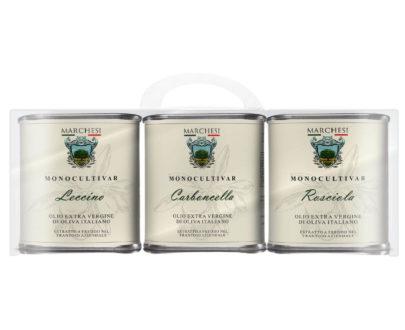 3 latte olio evo italiano I monocultivar Leccino, Carboncella e Rosciola 450 ml
